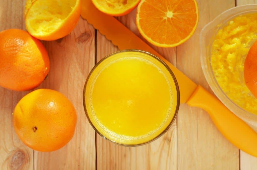 Jus d'orange fait maison